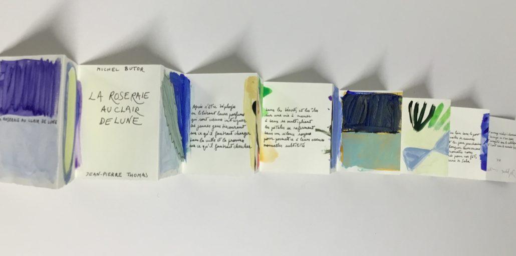 La roseraie au clair de lune. Michel Butor. Jean-Pierre Thomas. 2000. Collection Manoir des livres. Lucinges